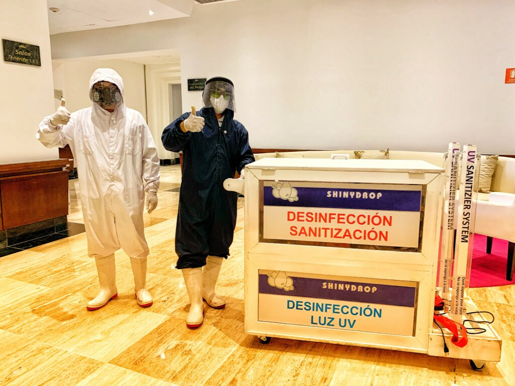 sanitation team at Paradisus Cancun hotel