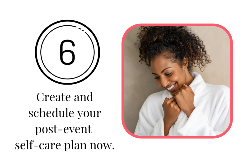 Event Planner Self Care